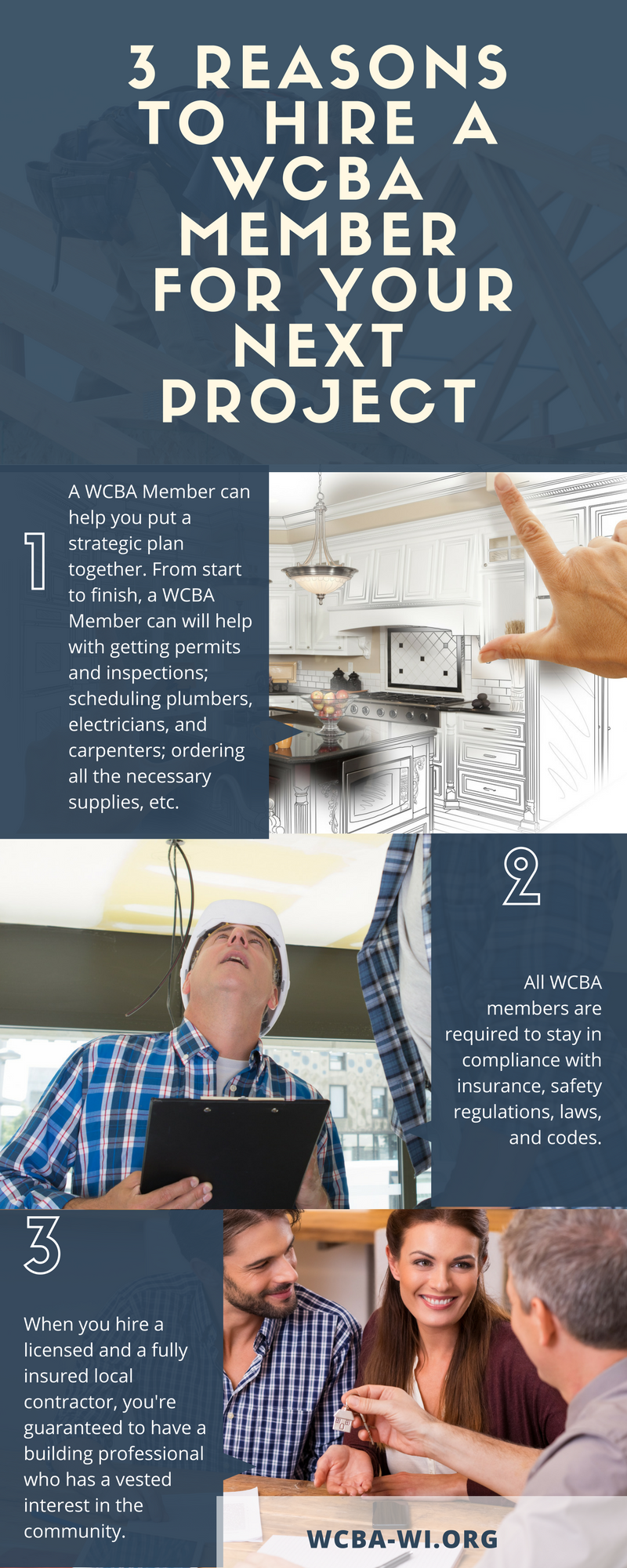 WCBA Info Graphic on Choosing a General Contractor